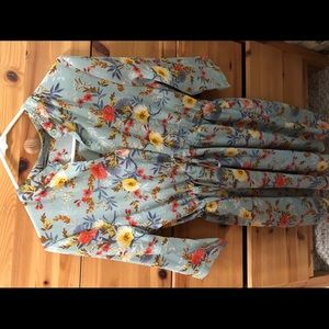 Blue floral dress brand new